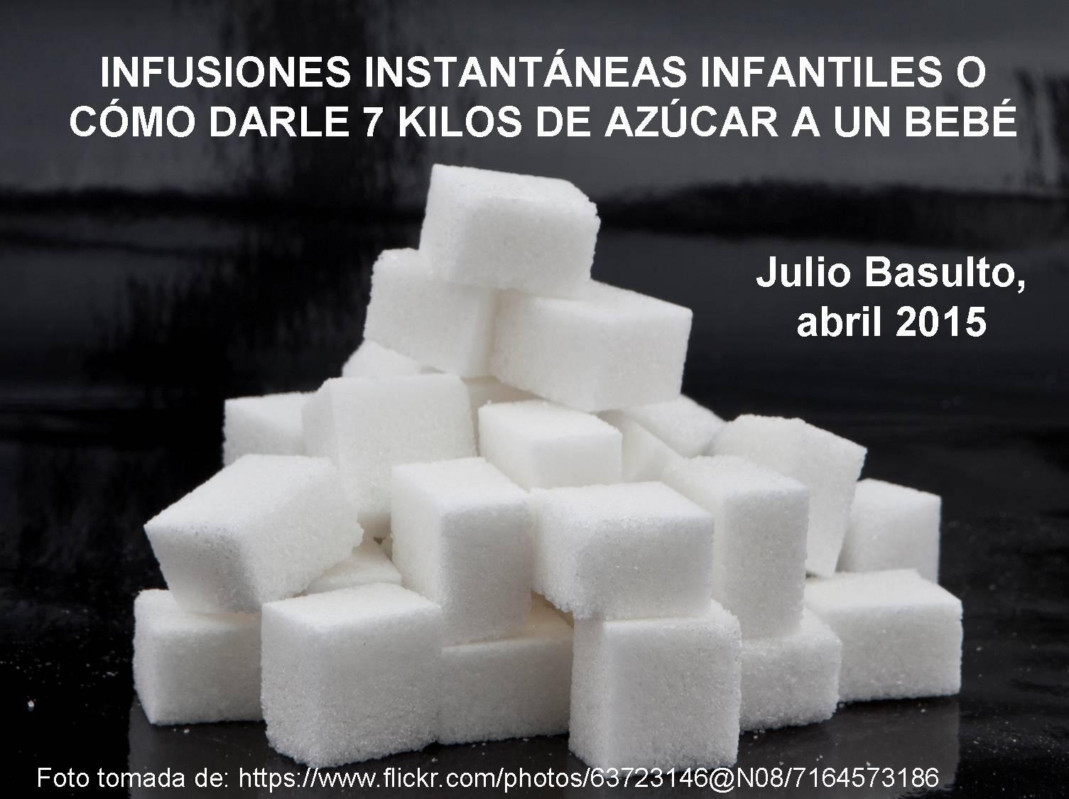 Infusiones instantáneas infantiles o cómo darle 7 kilos de azúcar a un bebé