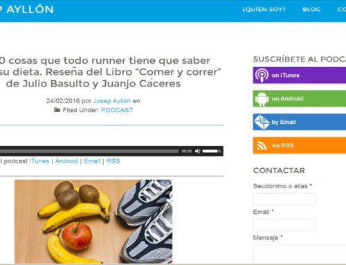 """Reseña de """"Comer y correr"""" por Josep Ayllón"""