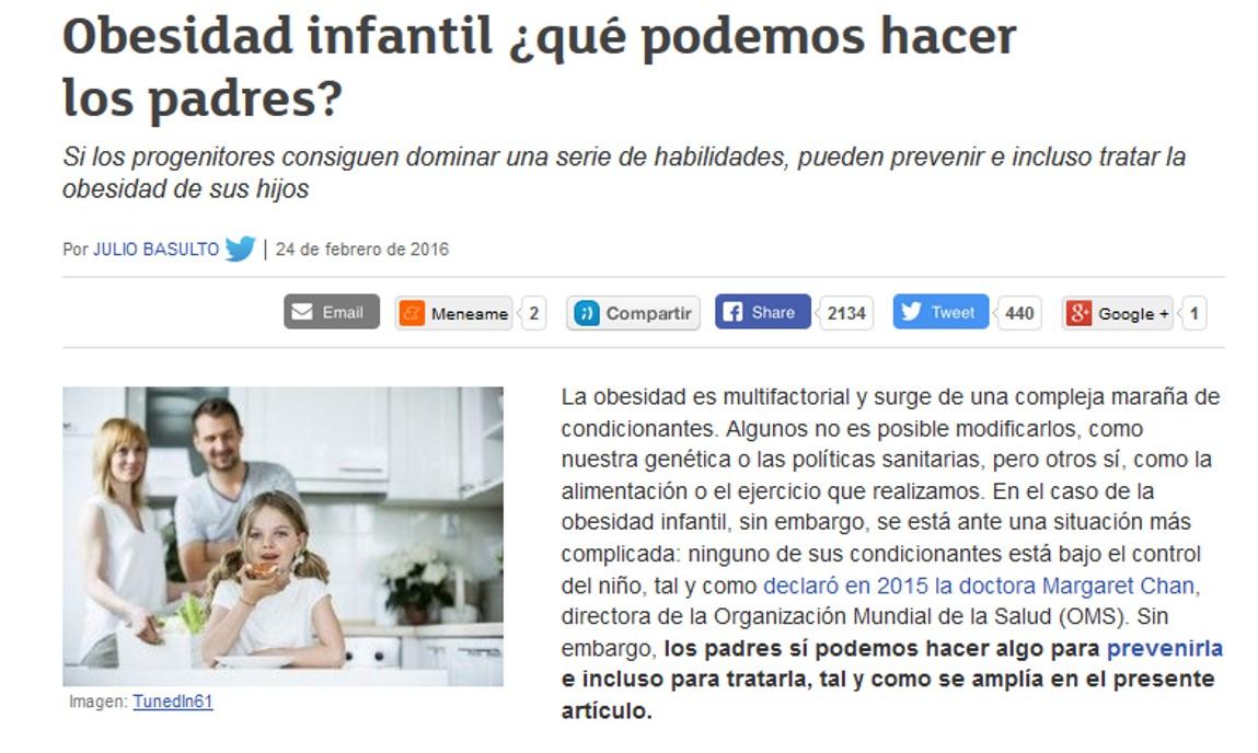 Obesidad infantil ¿qué podemos hacer los padres?