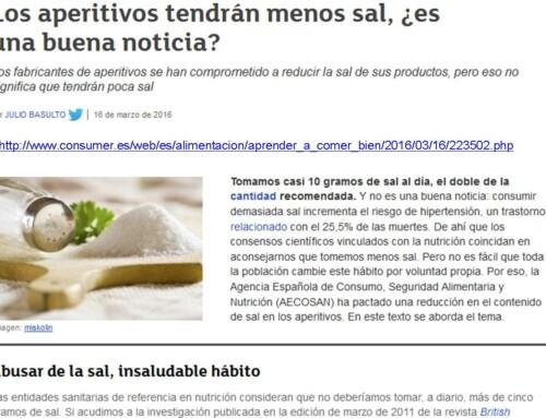 Los aperitivos tendrán menos sal, ¿es una buena noticia?