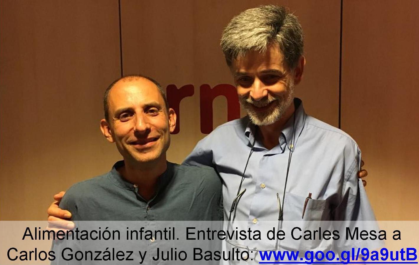 Alimentación infantil, con Carlos González (#GenteSana-#GenteDespierta-RNE, 09/9/2016)