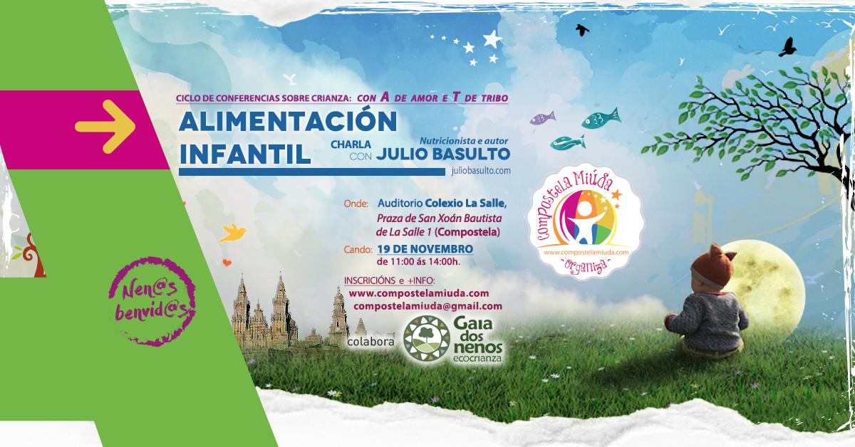 Charla de alimentación infantil en Santiago de Compostela, 19-nov-2016