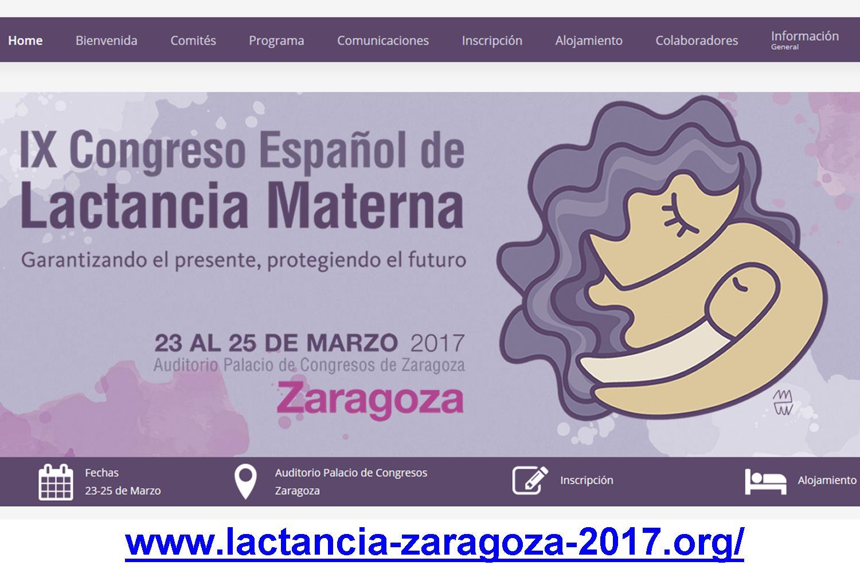 Participo en el IX Congreso Español de Lactancia Materna de IHAN, Zaragoza marzo de 2017