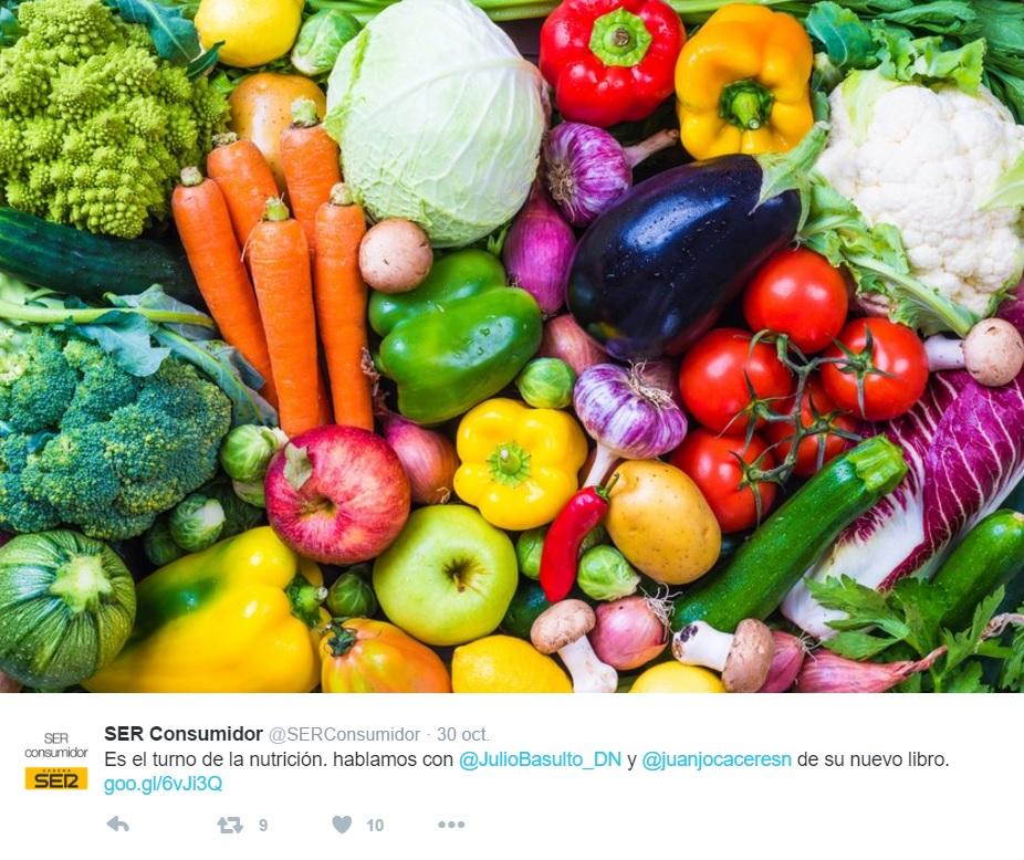 """Ser consumidor, entrevista con Juanjo Cáceres sobre """"Más vegetales, menos animales"""" 30/10/16"""