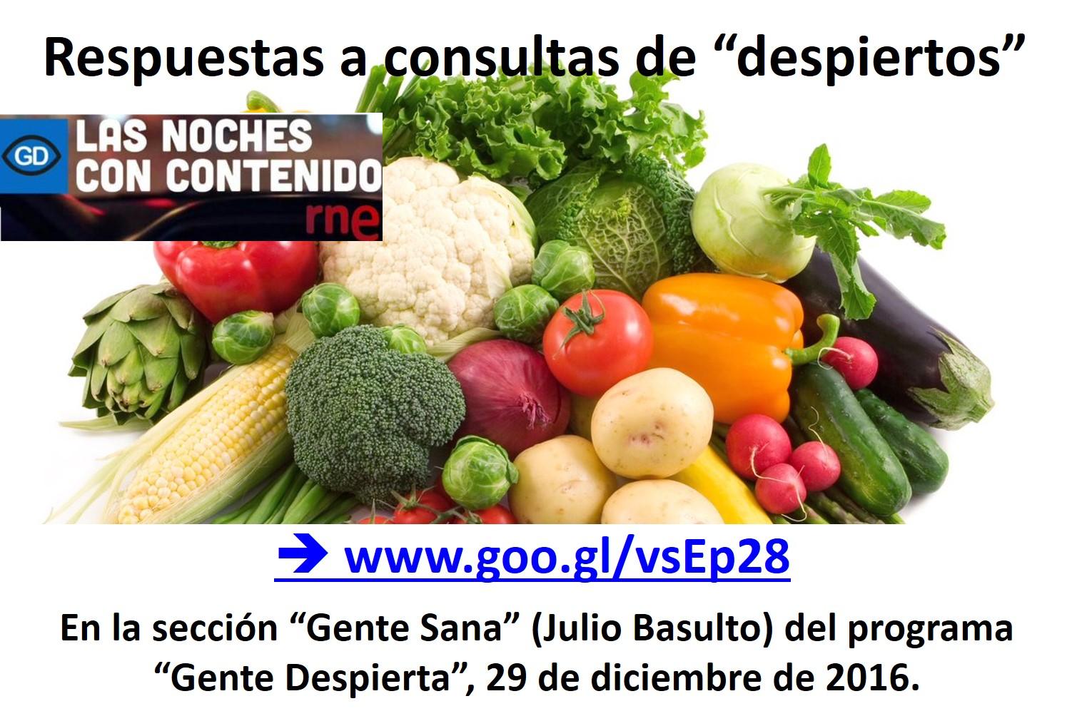 """Respuestas a consultas de """"despiertos"""" en """"Gente Sana"""", 29/12/2016 (podcast)"""