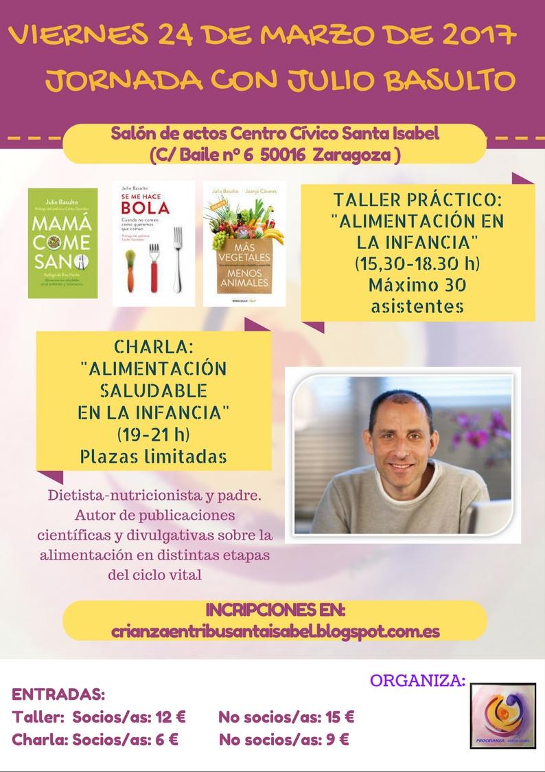 Conferencia y taller sobre alimentación infantil. Organiza: Asociación pro-crianza Santa Isabel (¡Plazas del taller agotadas! )