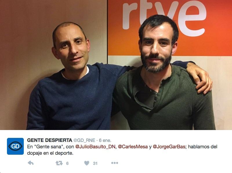 """El dopaje en el deporte, con  Jorge García Bastida en """"Gente Sana"""" (Podcast)"""