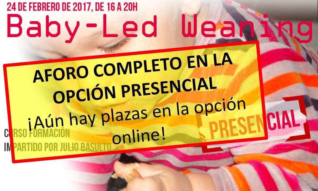 Agotadas las plazas para el curso de Baby-Led Weaning (opción presencial)