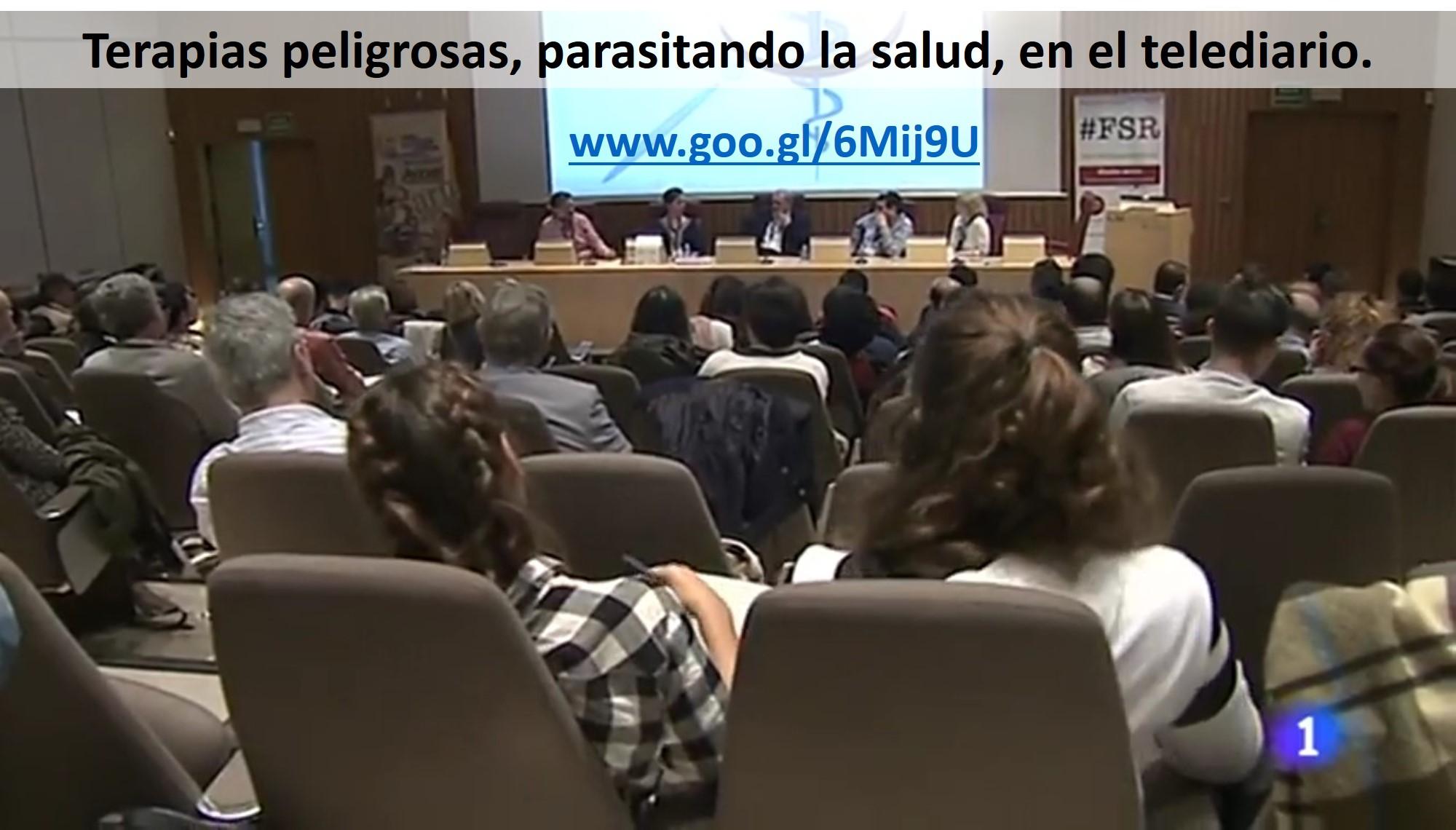 Terapias Peligrosas: parasitario la salud. Noticia del evento en TVE.