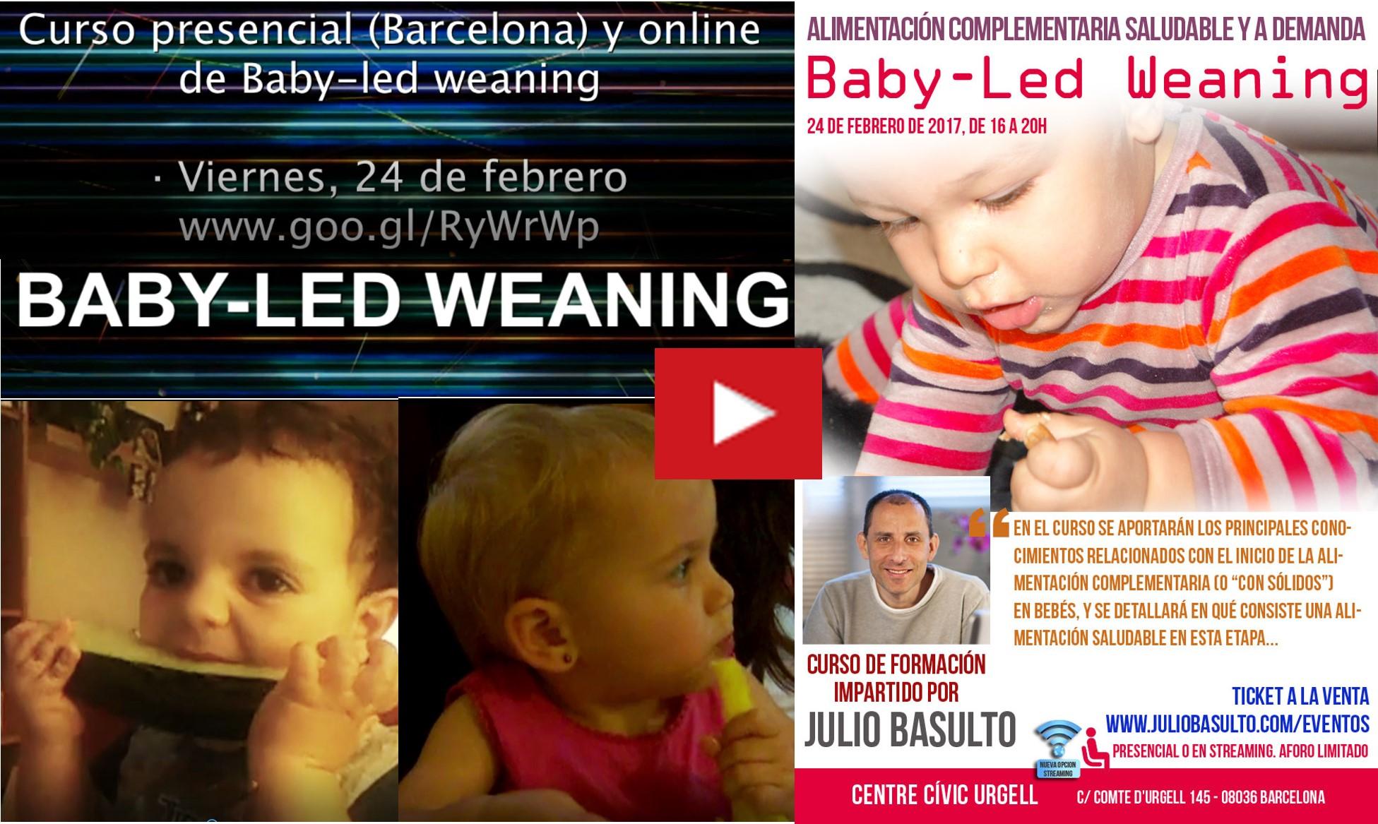 Últimas plazas (online) del curso de Baby-led weaning. Vídeo.