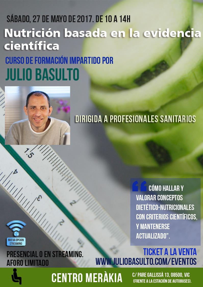 Nutrición basada en la evidencia científica. Curso para profesionales sanitarios, presencial y online