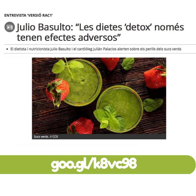 """""""Les dietes 'detox' només tenen efectes adversos"""" Entrevista para Rac 1"""