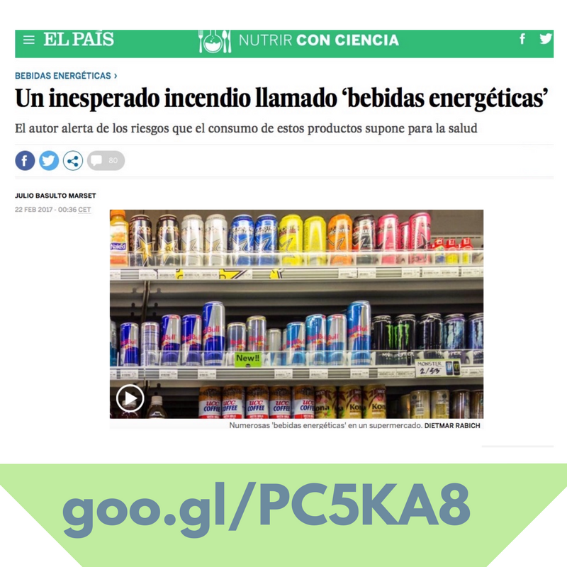 """Un inesperado incendio llamado 'bebidas energéticas' (Artículo para """"El País"""")"""