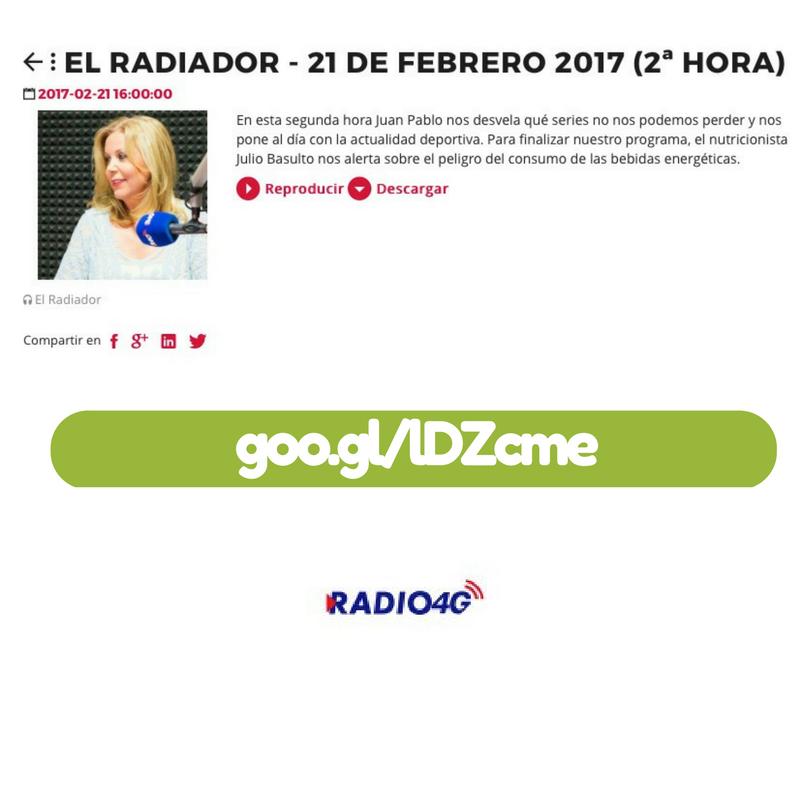 """Bebidas energéticas (entrevista para """"El Radiador"""" Radio 4G)"""