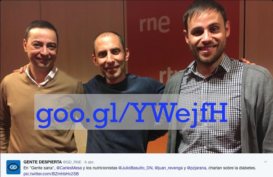 """Diabetes en """"Gente Sana"""" (Gente despierta) con Juan Revenga y Pablo Zumaquero  (Podcast)"""