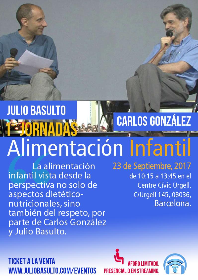 I Jornada de alimentación infantil, con Carlos González y Julio Basulto, presencial/online