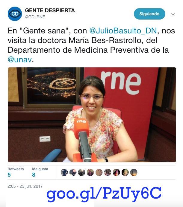 "Maira Bes Rastrollo en ""Gente Sana"" (Gente Despierta) (Podcast)"