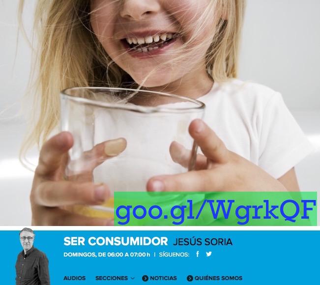 """""""Los doce mandamientos de la ley del zumo (aunque sea casero) en niños"""", entrevista en Ser Consumidor"""