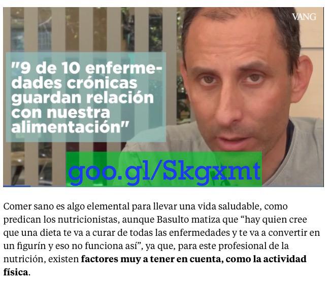 """Una dieta no te va a convertir en un figurín, eso no funciona así"", entrevista para ""La Vanguardia"""