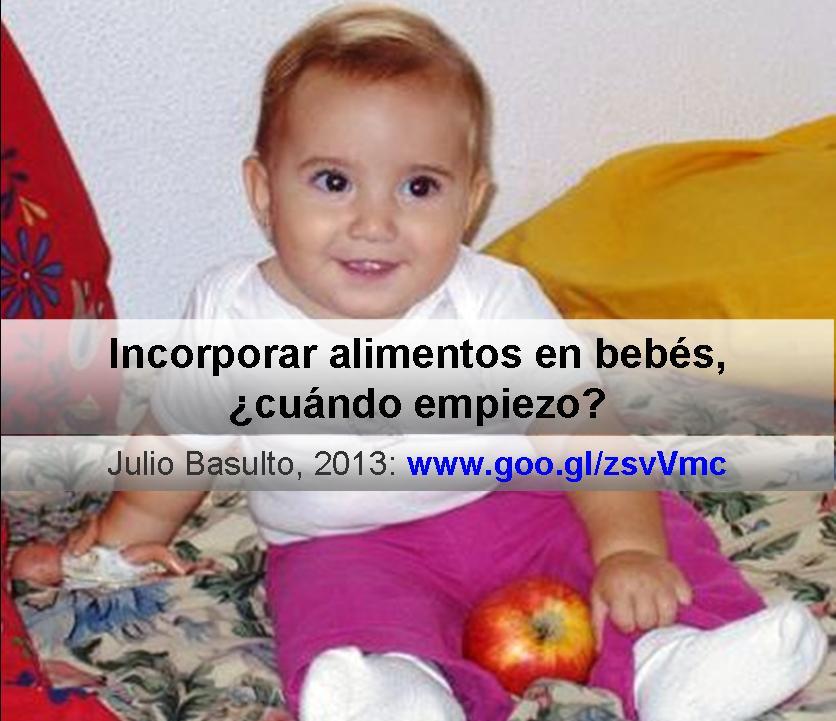 Incorporar alimentos en bebés ¿Cuándo empiezo?