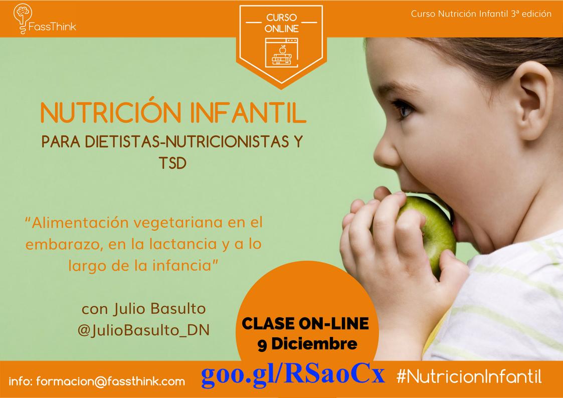 Alimentación vegetariana en el embarazo, en la lactancia y a lo largo de la infancia (curso online para FassThink)