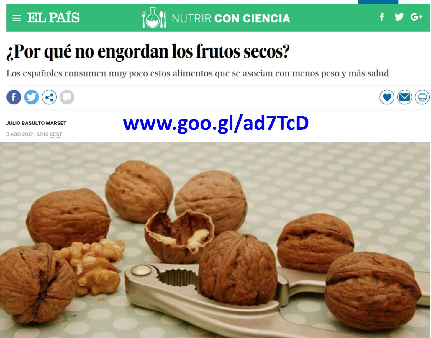 ¿Por qué no engordan los frutos secos? (artículo para El País)