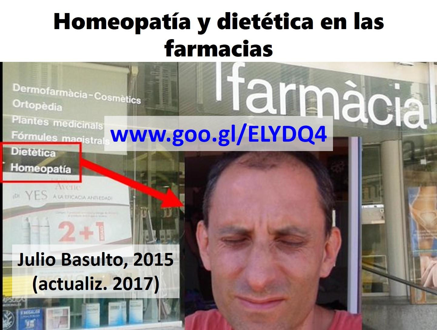 Homeopatía y dietética en las farmacias