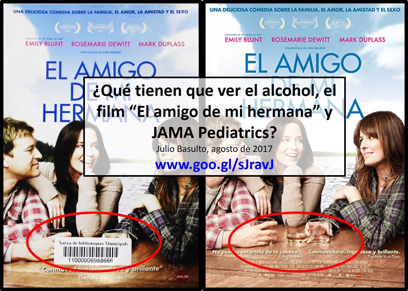 """¿Qué tienen que ver el alcohol, el film """"El amigo de mi hermana"""" y JAMA Pediatrics?"""