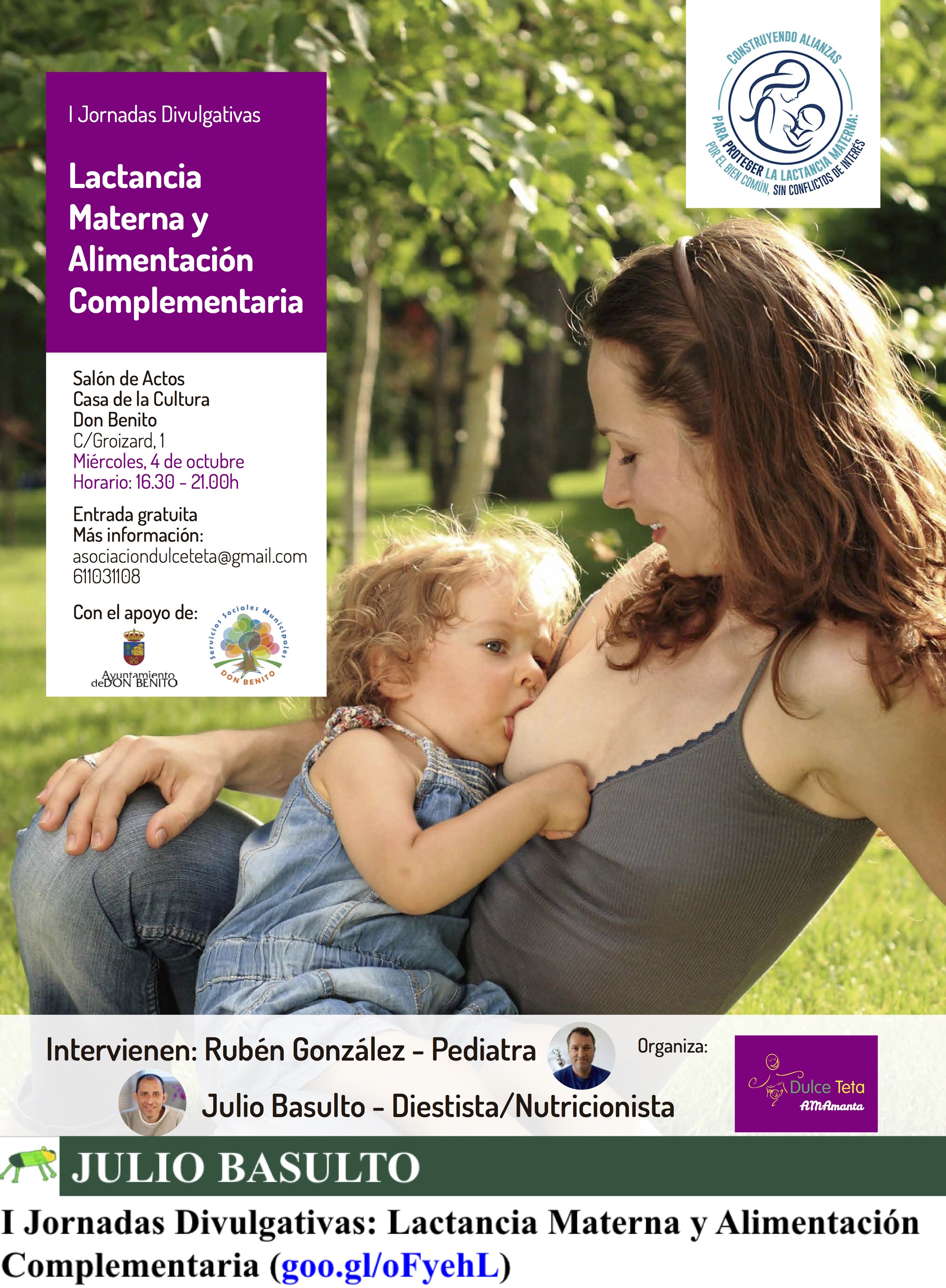 I Jornadas Divulgativas: Lactancia Materna y Alimentación Complementaria