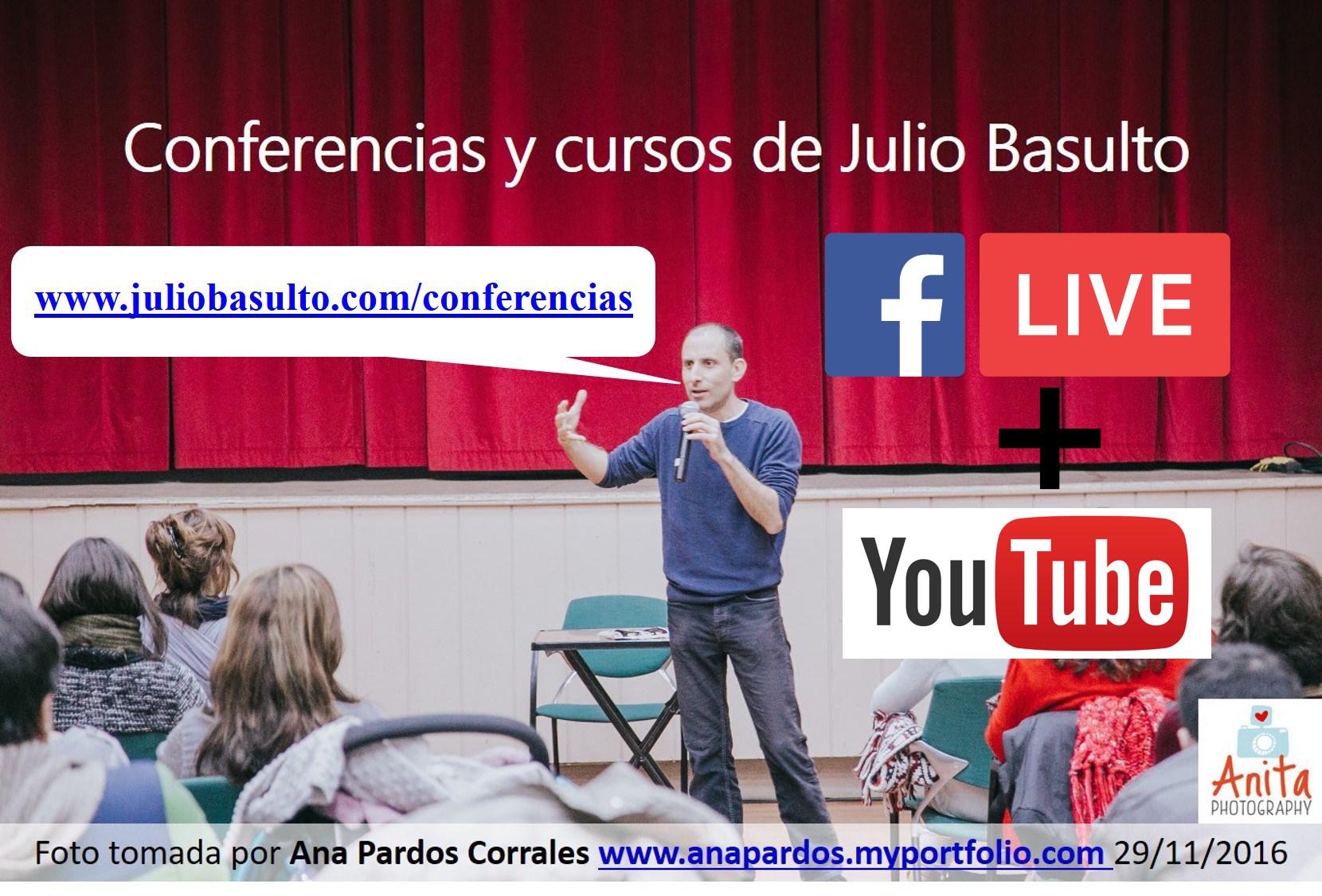 Próximas conferencias y cursos de Julio Basulto y resolución de dudas nutricionales (Facebook Live)