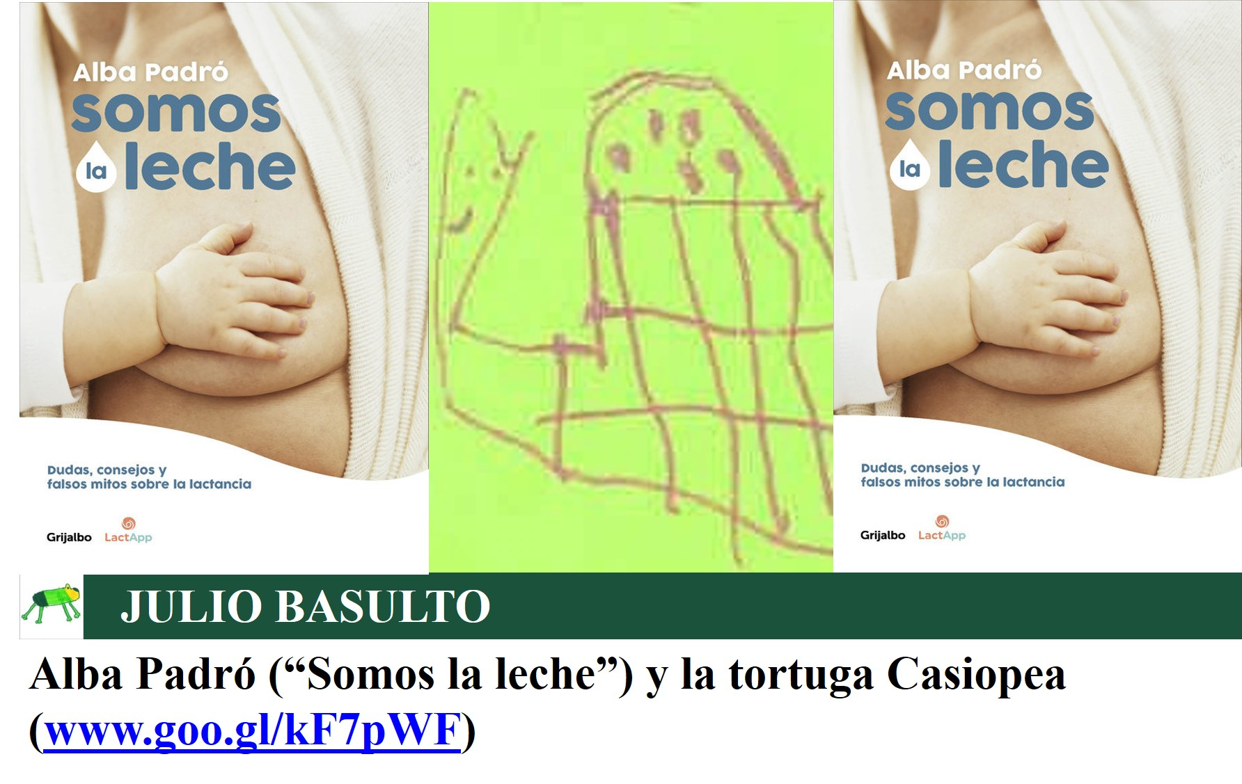 """Alba Padró (""""Somos la leche"""") y la tortuga Casiopea"""