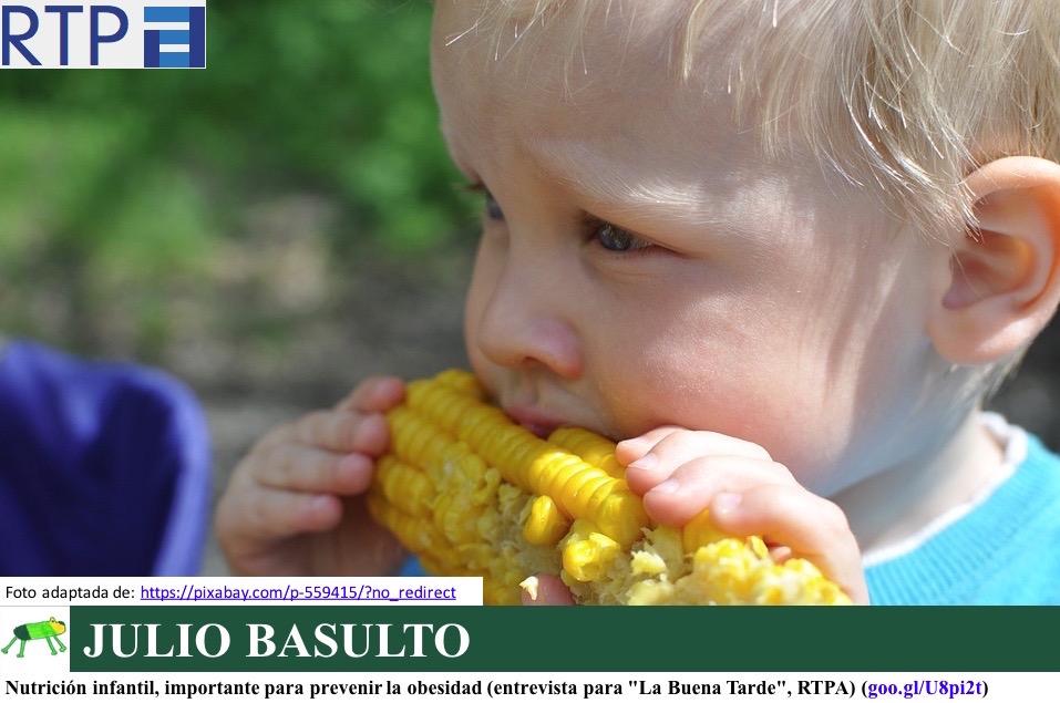 """Nutrición infantil, importante para prevenir la obesidad (entrevista para """"La Buena Tarde"""", RTPA)"""