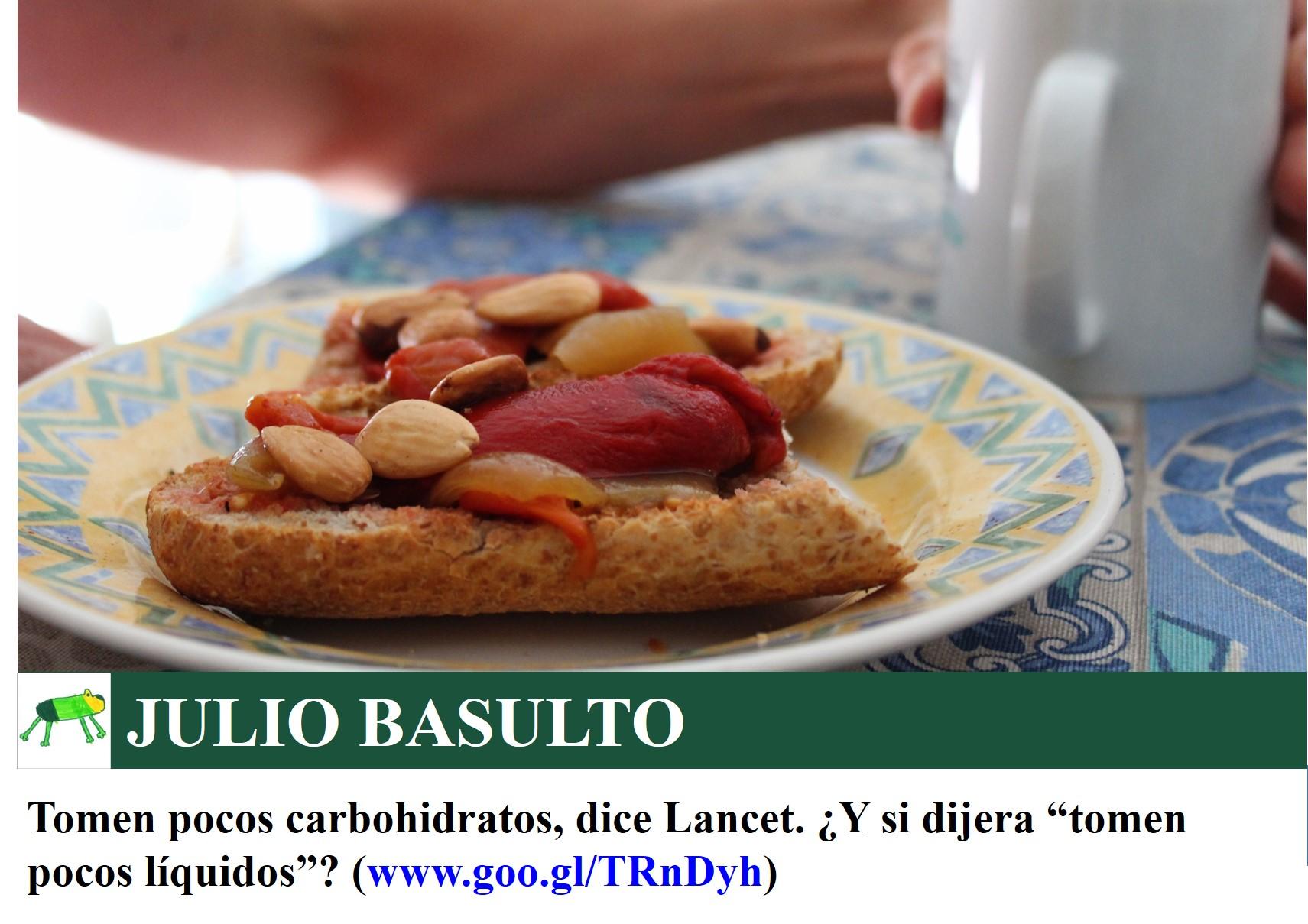 """Tomen pocos carbohidratos, dice Lancet. ¿Y si dijera """"tomen pocos líquidos""""?"""