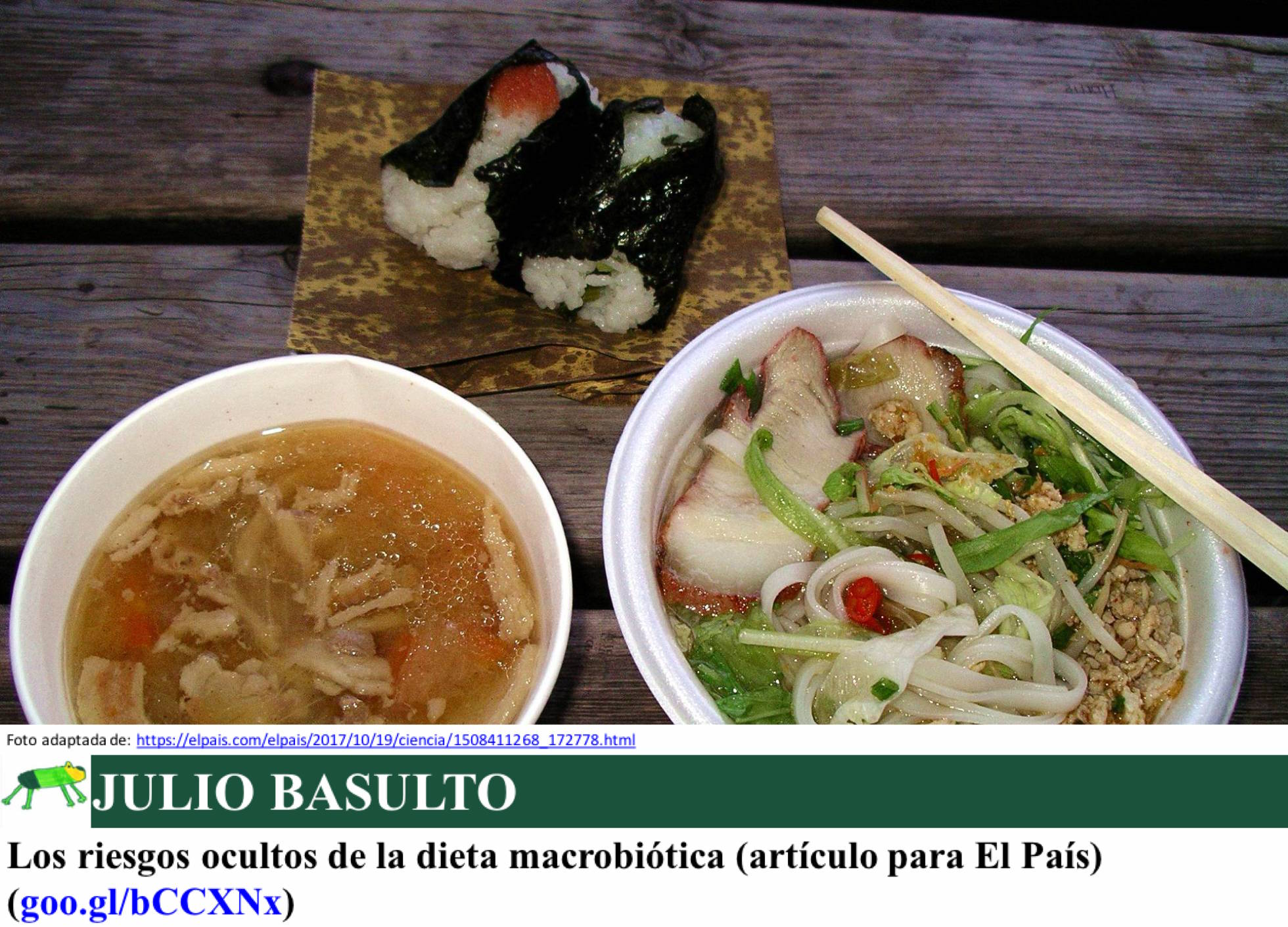 Los riesgos ocultos de la dieta macrobiótica (artículo para El País)