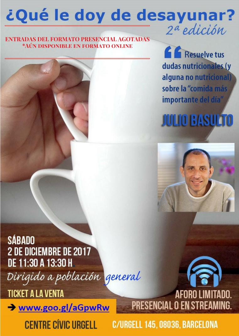 ¿Qué le doy de desayunar (y cómo)? (2ª Ed.) Conferencia presencial y online (streaming)