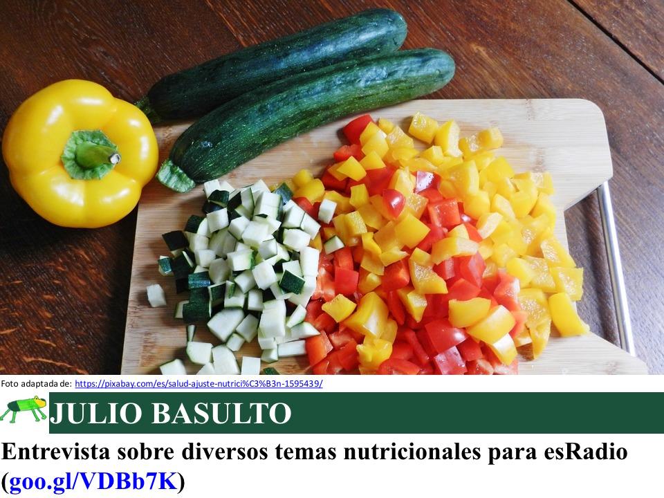 Entrevista sobre diversos temas nutricionales para esRadio