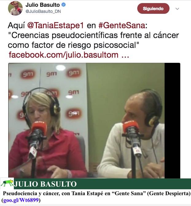 """Pseudociencia y cáncer, con Tania Estapé en """"Gente Sana"""" (Gente Despierta)"""