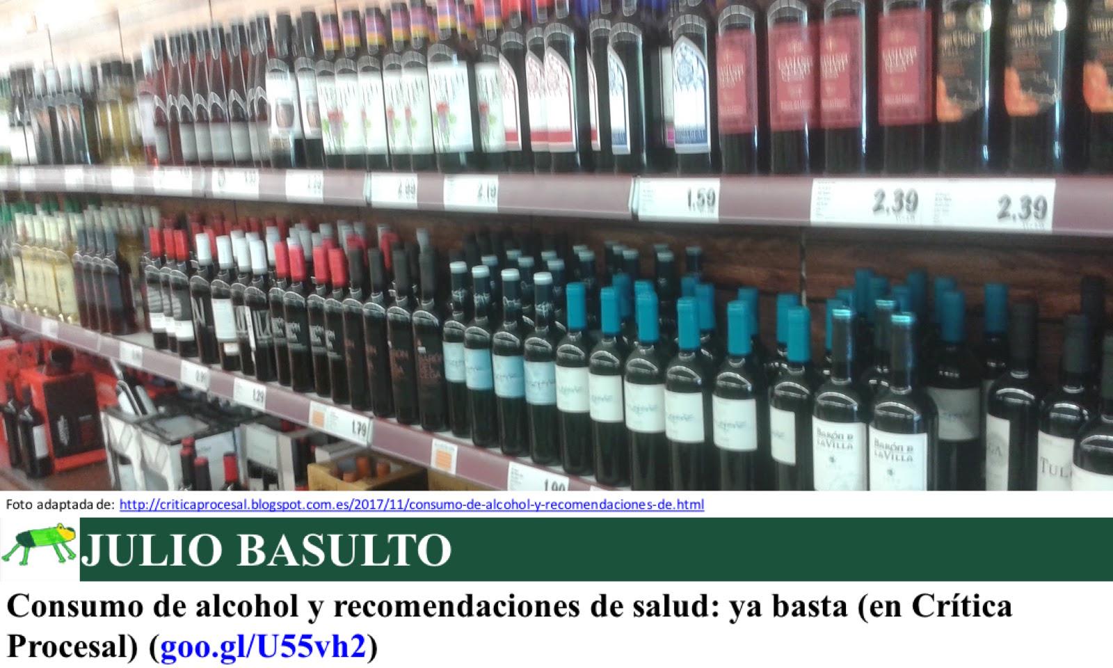 Consumo de alcohol y recomendaciones de salud: ya basta (en Crítica Procesal)