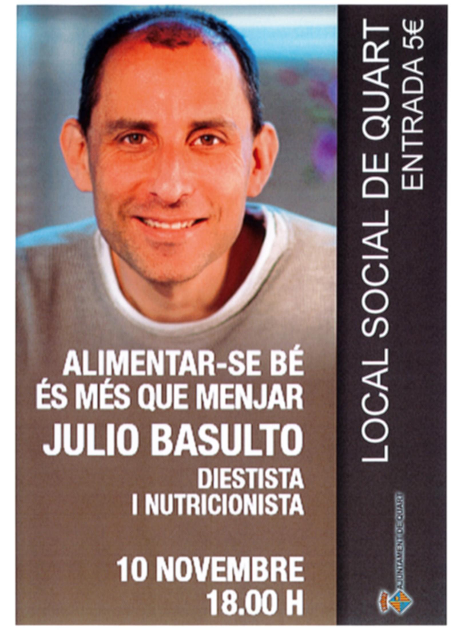 Alimentar-se bé és més que menjar (charla en Quart, Girona)
