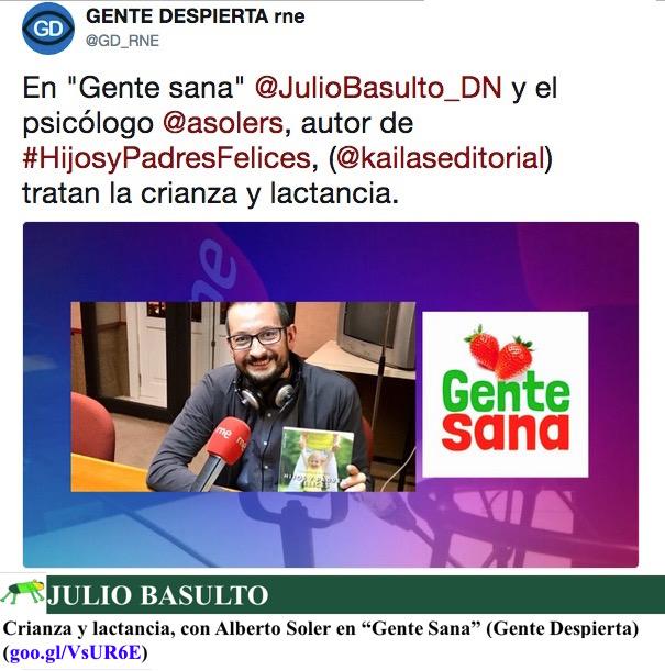 """Crianza y lactancia, con Alberto Soler en """"Gente Sana"""" (Gente Despierta)"""