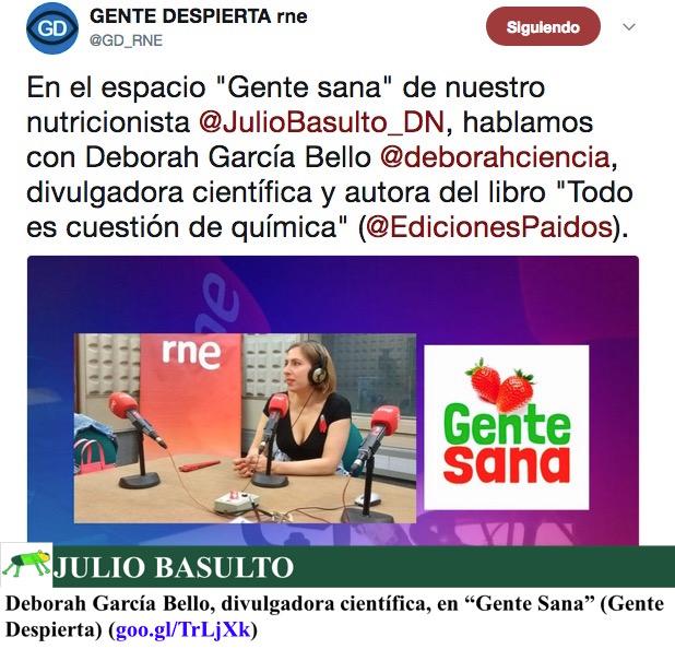 """Deborah García Bello, divulgadora científica, en """"Gente Sana"""" (Gente Despierta)"""