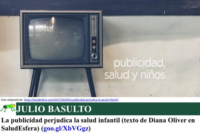 La publicidad perjudica la salud infantil (texto de Diana Oliver en SaludEsfera)