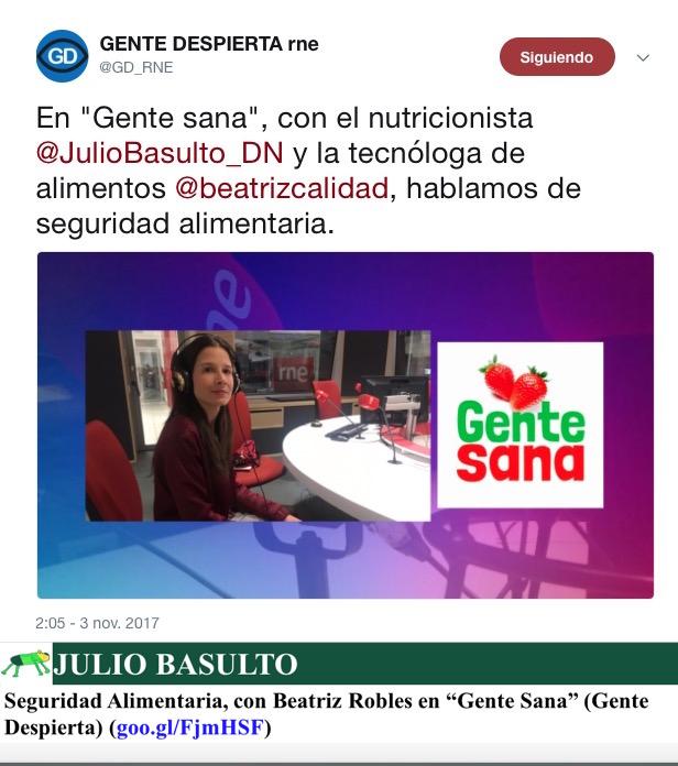 """Seguridad Alimentaria, con Beatriz Robles en """"Gente Sana"""" (Gente Despierta)"""