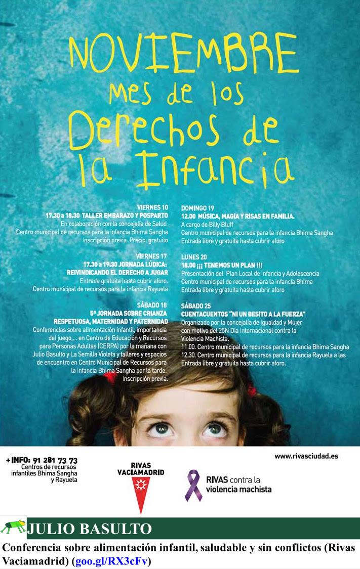 Conferencia sobre alimentación infantil, saludable y sin conflictos (Rivas Vaciamadrid)