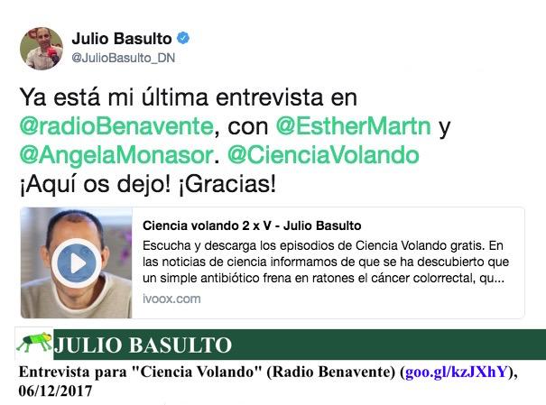 """Entrevista para """"Ciencia Volando"""" (Radio Benavente)"""
