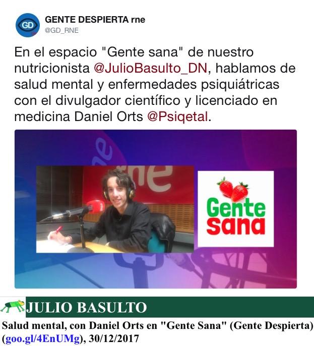 """Salud mental, con Daniel Orts en """"Gente Sana"""" (Gente Despierta)"""