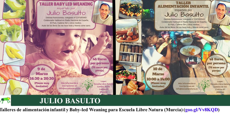 Talleres de alimentación infantil y Baby-led Weaning para Escuela Libre Natura (Murcia)