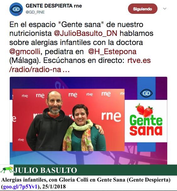 Alergias infantiles, con Gloria Colli en Gente Sana (Gente Despierta)