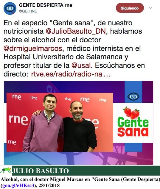 """Alcohol, con el doctor Miguel Marcos en """"Gente Sana"""" (Gente Despierta)"""