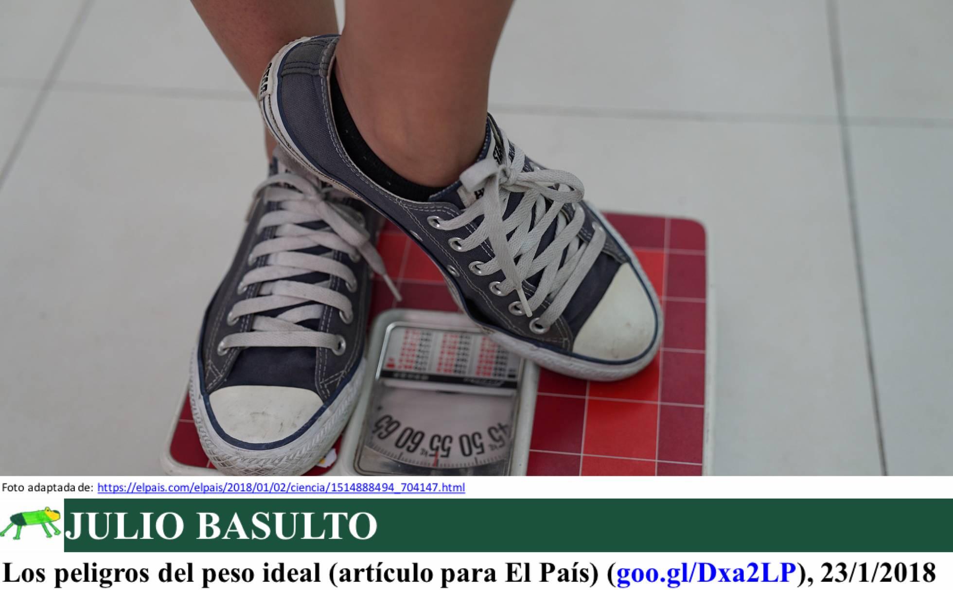 Los peligros del peso ideal (artículo para El País)